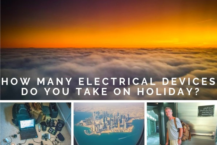 How many electrical devices do you take on holiday