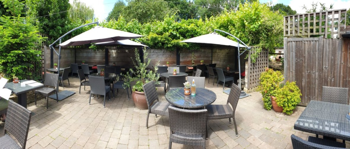 Beer Garden Chequers Inn Rowhook