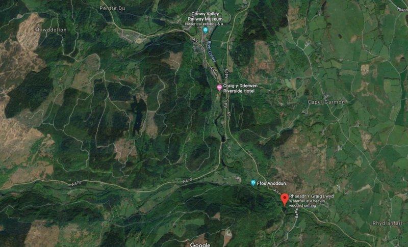 Conwy Falls Map