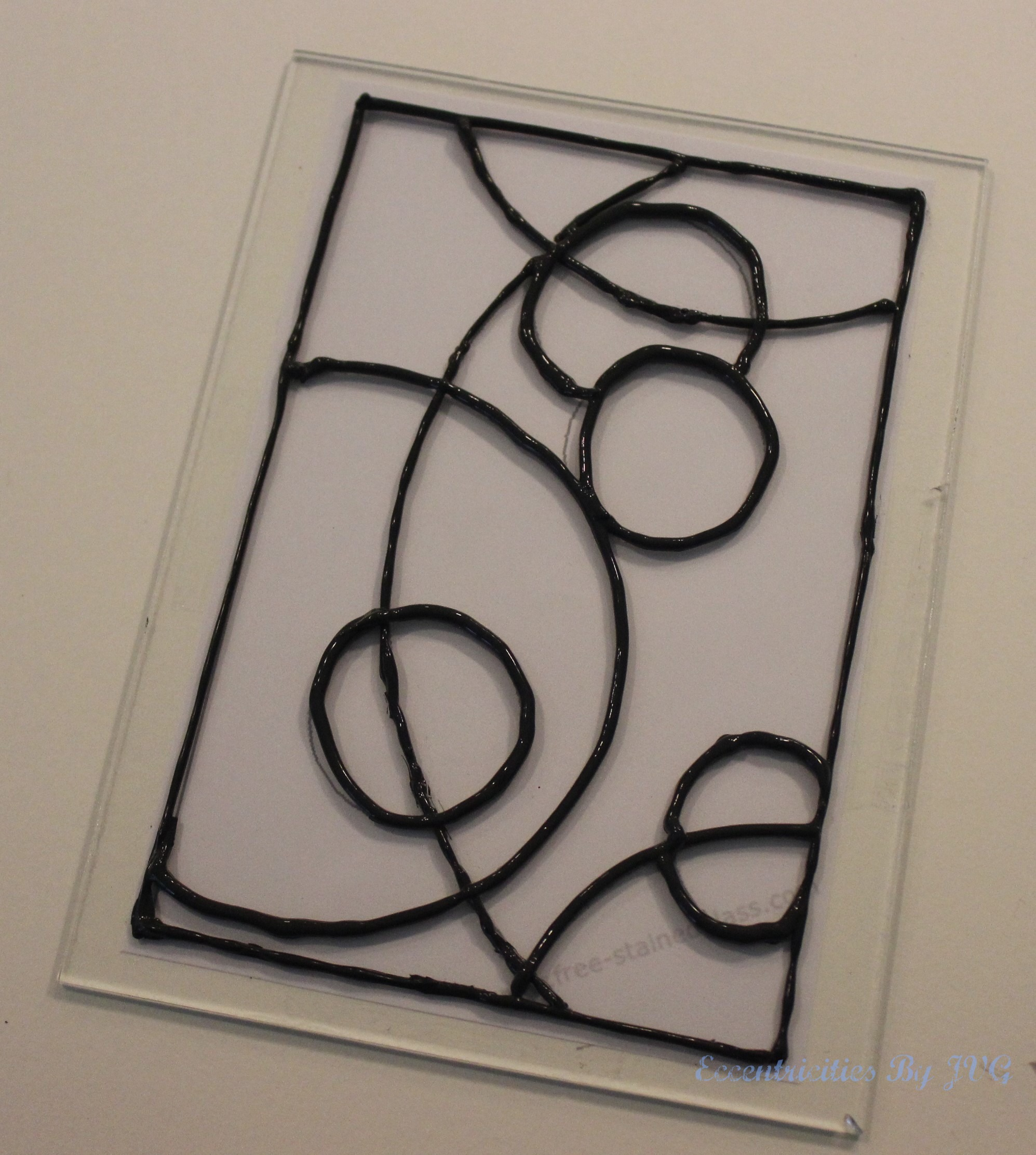 apply the leading to your stain glass art