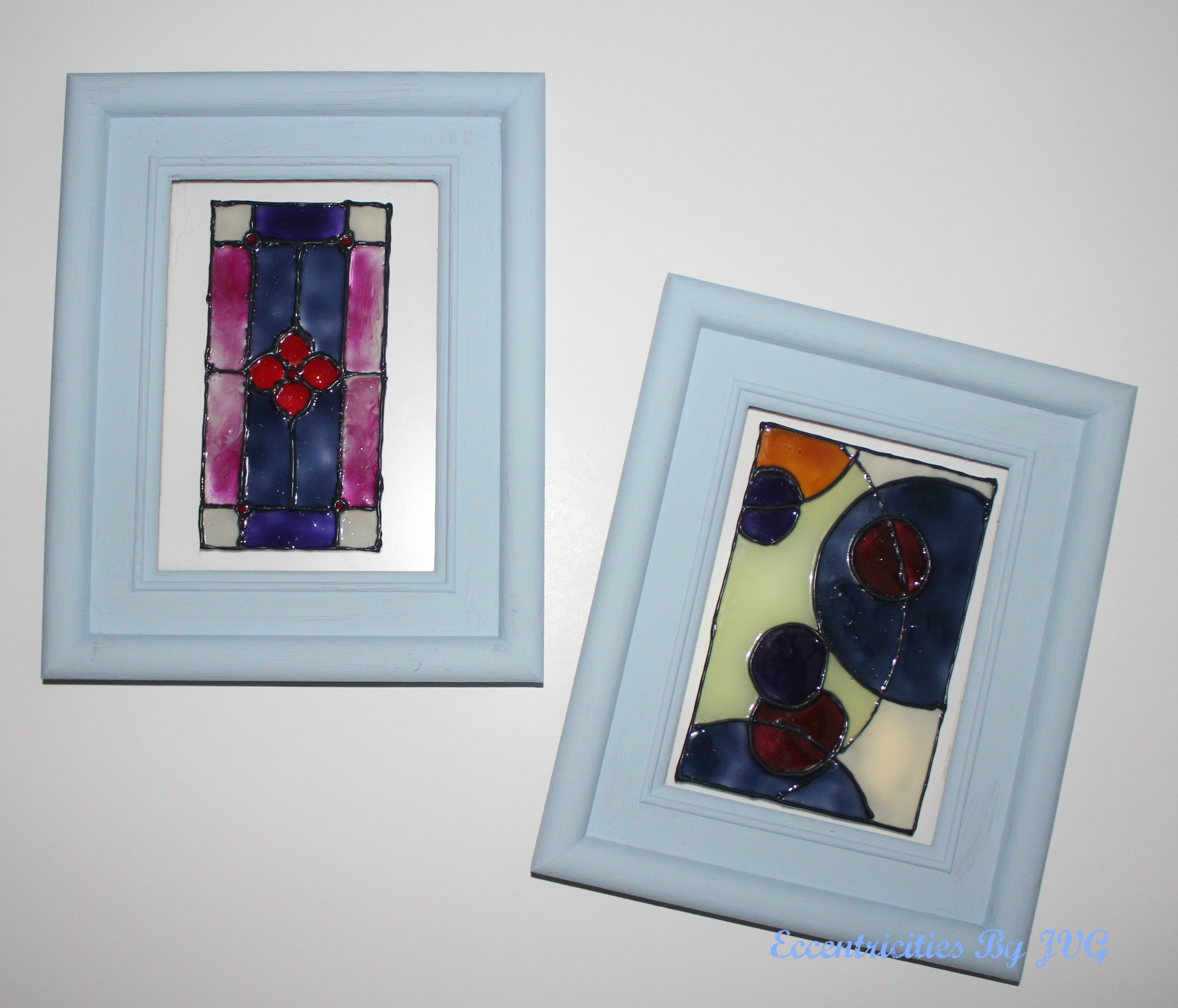 stained glass art for small frames and small spaces