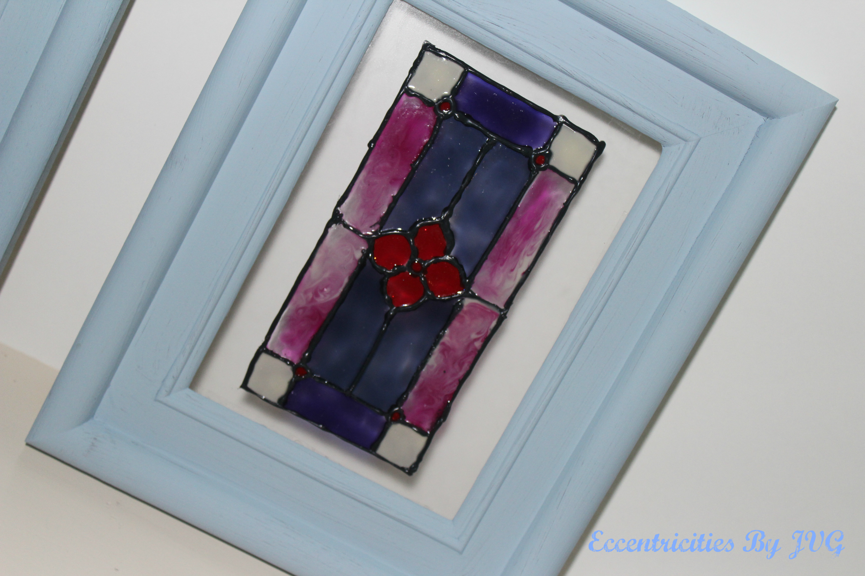 stained glass art small frame traditional
