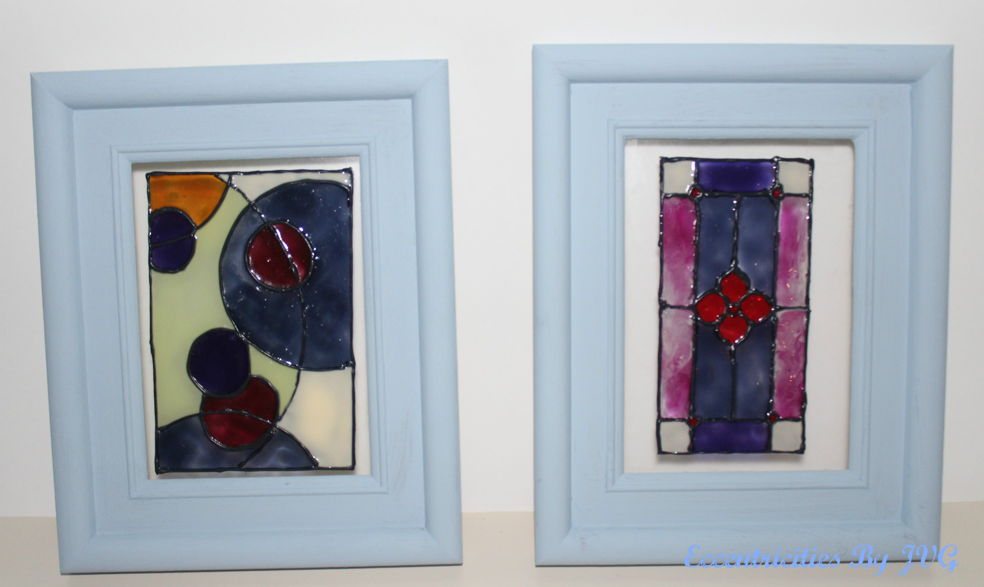 stained glass art for small frames