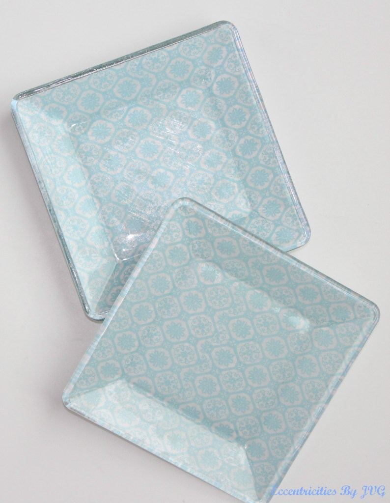 reverse decoupage glass plates with your favorite decor