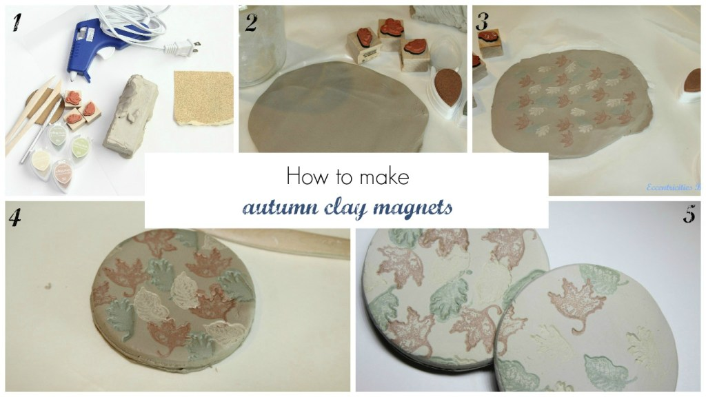Autumn clay magnets!