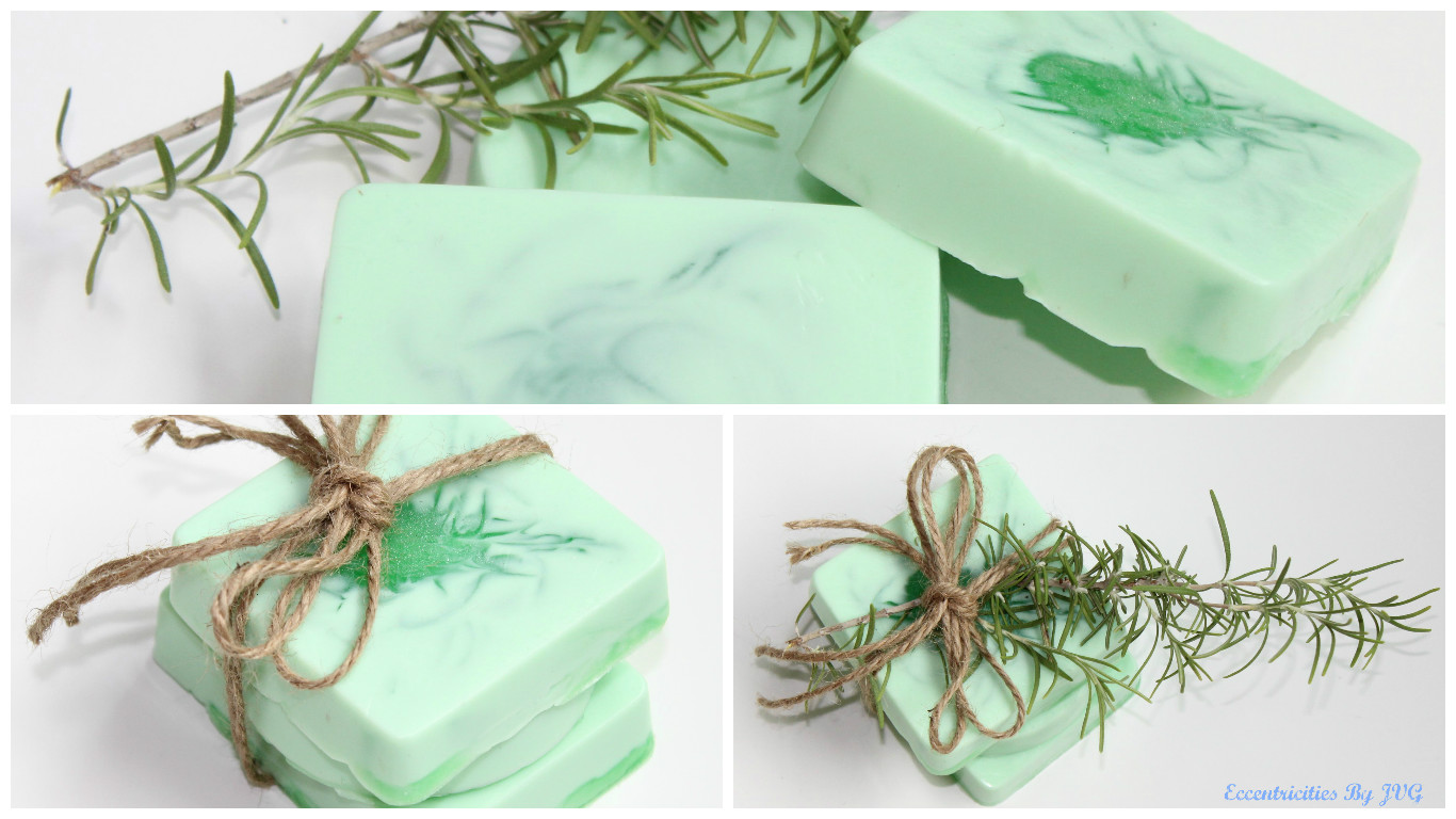homemade rosemary and peppermint soap
