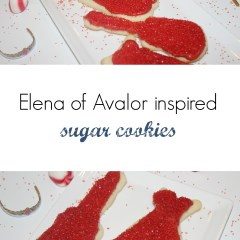 Elena of Avalor inspired sugar cookies