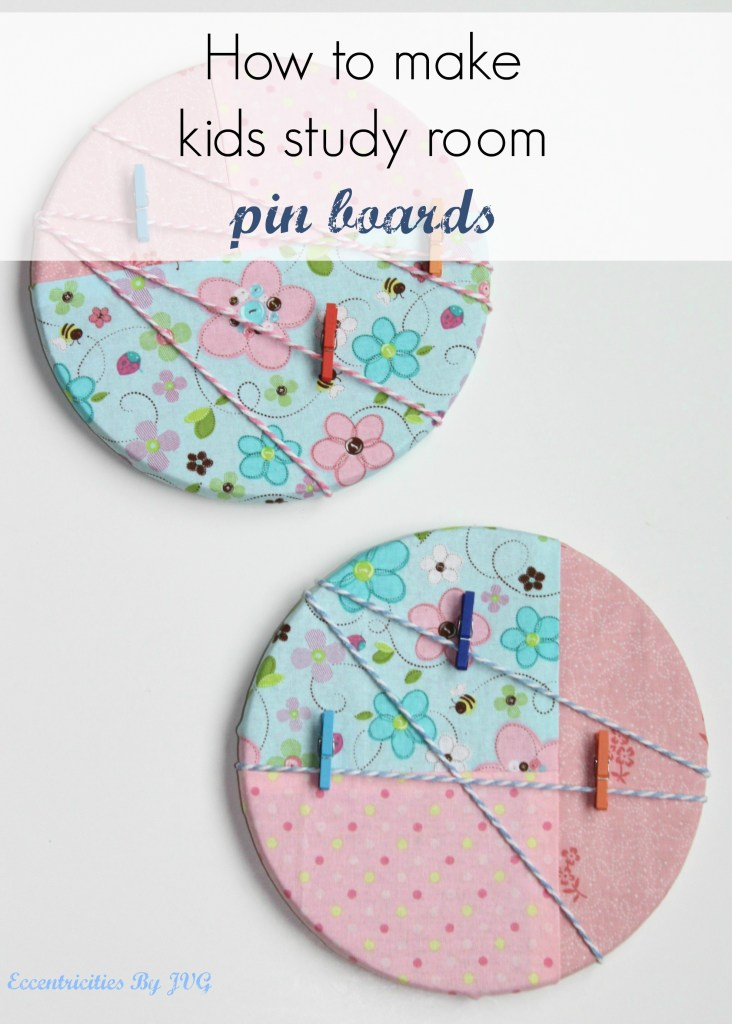 Kids study room pin boards