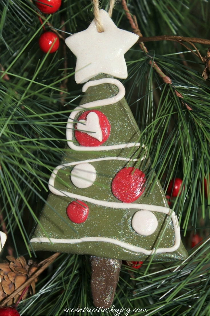 Christmas clay ornaments - green