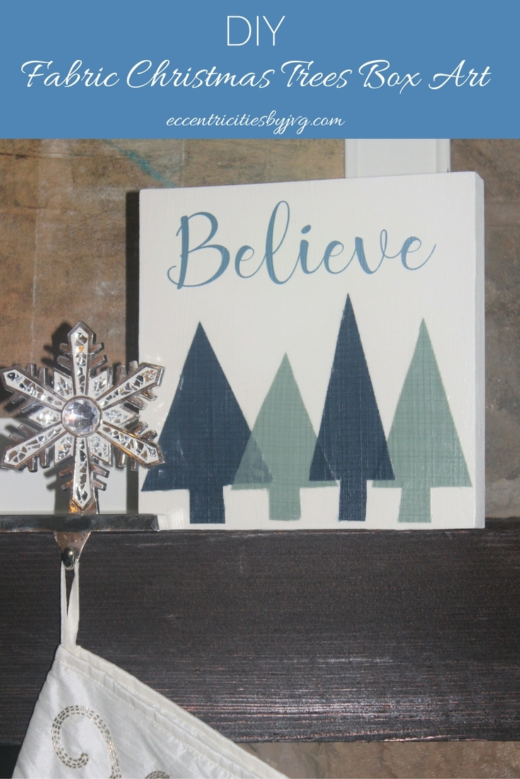 DIY Fabric Christmas Trees box art