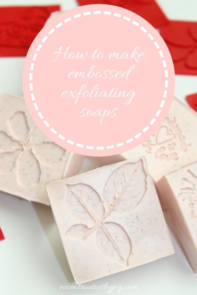 Embossed exfoliating soaps