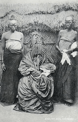 The Alaafin of Oyo, crowned, circa 1900