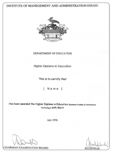 This certificate was submitted to UK NARIC. Is it real, or a fake? Applying the simple checks given provides the answer. Some fake certificates are easy to detect, others are more difficult.