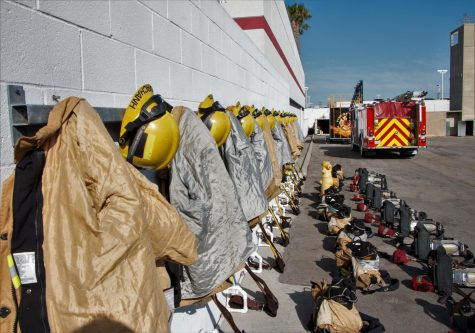 New recruits must set up their gear in an orderly fashion and prepare for any tactical or physical training that they may practice that day. They must be disciplined in training in order to meet the expectations of their captains and fire station. Photo taken on (Patricia Carrillo/ The Union)