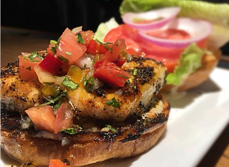 courtyard grill blacked wahoo fish sandwich