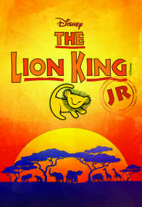 lion king jr event poster - lion cub over African sunset