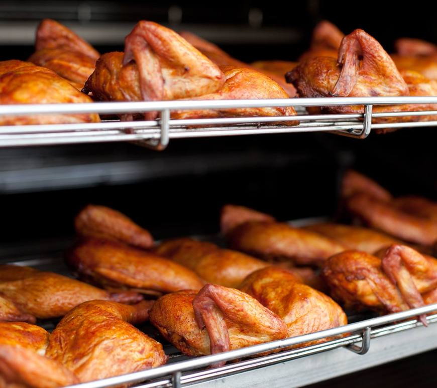 dustins bbq racks of smoked chicken