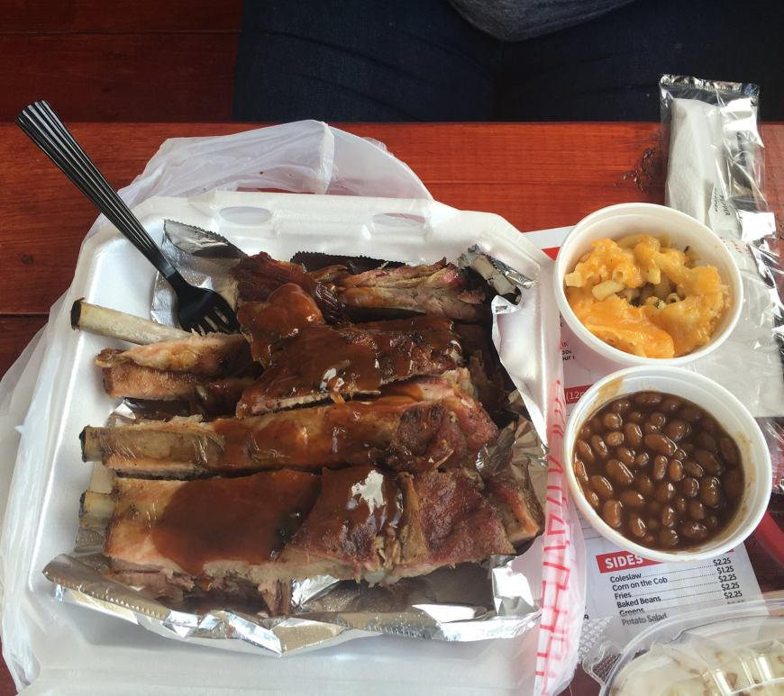finger lickin' bbq and wings ribs platter