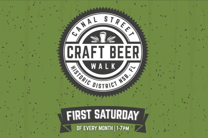 canal street craft beer walk event poster