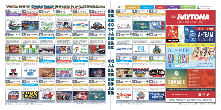 June 2019 Volusia County Calendar of Events