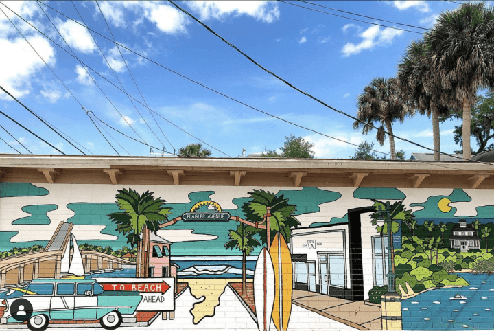The Florida Local Market mural new Smyrna Beach florida