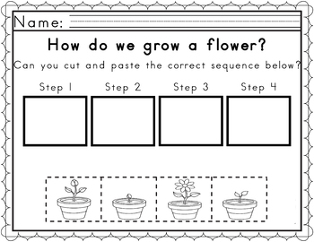 Worksheets For Sequencing In Spring By Zippadeezazz