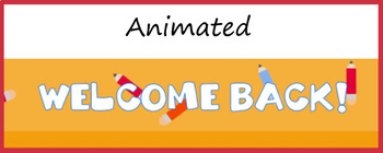 Animated Google Classroom Headers (Back to School) for Distance Learning