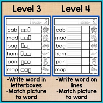 Free Cvc Words Worksheets No Prep Write Cut And Paste Activity