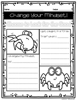 Look For The Good Student Fixed Growth Mindset Worksheet