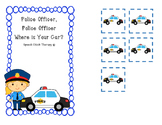 Police Officer Speech Therapy Activity
