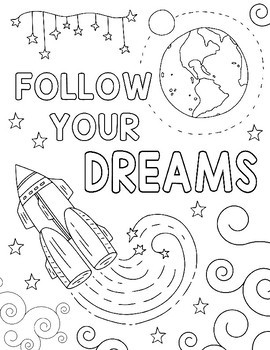 space coloring page # 3
