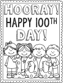 100th day of school coloring pages # 1