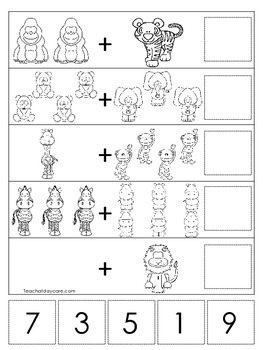 15 Zoo Themed Math Worksheets Preschool Pre K And