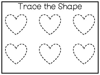 5 All About The Shape Heart No Prep Tracing Preschool