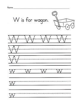 5 Letter W Worksheets Alphabet Amp Phonics Worksheets