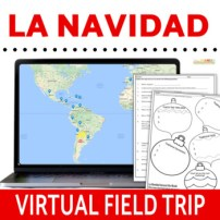 La Navidad Spanish Christmas Digital Activities - Click to Download! Google Maps in Spanish Class