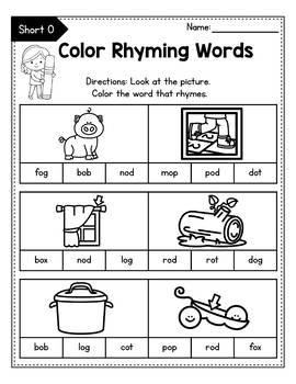 Cvc Rhyming Worksheets For Kindergarten Rhyming Words Worksheets