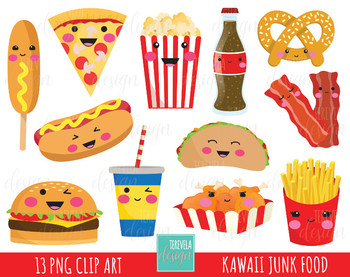 50 Sale Junk Food Clipart Fast Food Clipart Kawaii Clipart Food Images