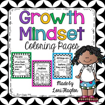 Growth Mindset Coloring Pages By Lori Flaglor Teachers