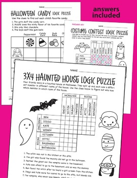 Halloween Logic Puzzles By Prime And Pi