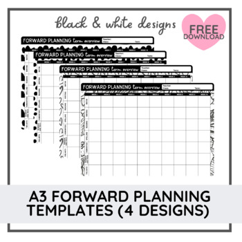 A3 Forward Planning Templates