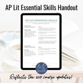 AP Lit & More - AP Lit Skill Handout