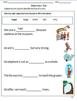 Adjectives Worksheets For Grade 1 Amp 2 By Rituparna Reddi
