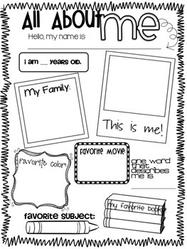 All About Me Back To School Poster By Melissa Schools TpT