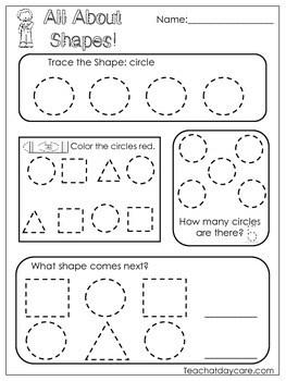 All About Shapes Worksheets 10 Shapes Worksheets