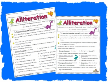 Alliteration Worksheet Printable Activity Page By