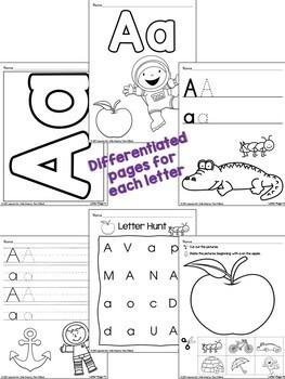 Alphabet Worksheets Handwriting Pages Letter Cards