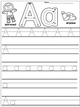 Kindergarten Handwriting Practice Alphabet By Dana S