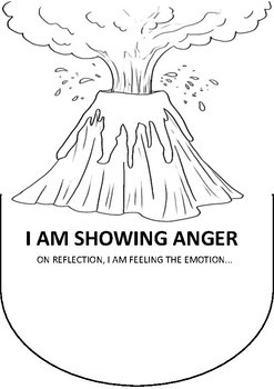 Anger Volcano Emotional Regulation Poster Worksheet By