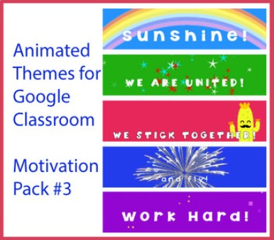 Animated Google Classroom Headers (Motivation Pack #3) for Distance Learning